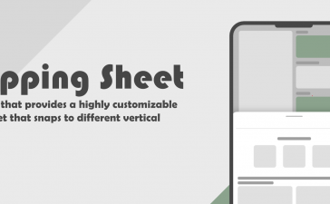 Flutter highly customizable sheet widget with drag functionality