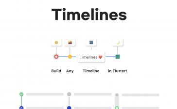 Flutter time line